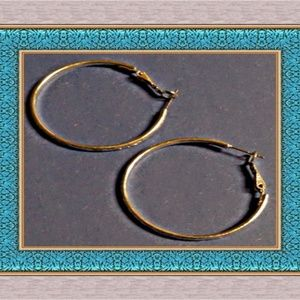 Silver Tone Hoop Design Earrings Sassy Style